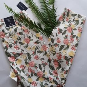 Charter Club Floral Bristol Skinny Ankle Jean NWT